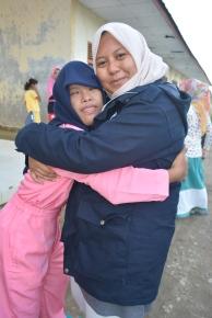 Bersama seorang siswi SLB Cahaya, Aceh Timur